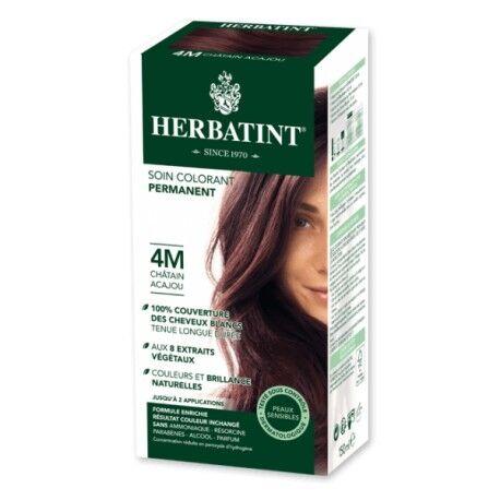 HERBATINT Coloration Cheveux Naturelle 4M Châtain Acajou - 150ml - Herbatint