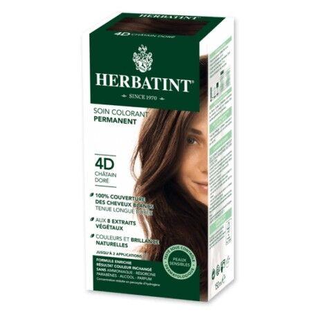 HERBATINT Coloration Cheveux Naturelle 4D Châtain Doré - 150ml - Herbatint