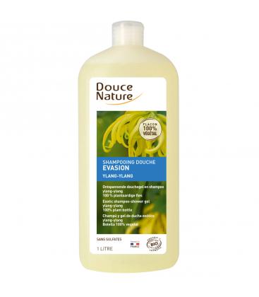 DOUCE NATURE Shampoing douche évasion Ylang-Ylang bio