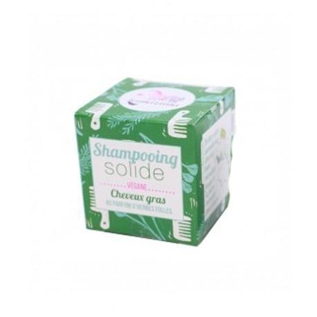 LAMAZUNA Shampooing Solide Cheveux Gras au Parfum d'Herbes Folles  - Lamazuna