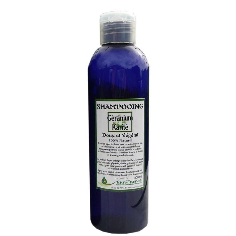 Synergies Distributeur Run'essence Shampoing doux et végétal géranium et karité 100% naturel...
