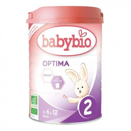 BABYBIO Optima 2 Lait de 6 à 12 Mois Bio - 900gr - Babybio