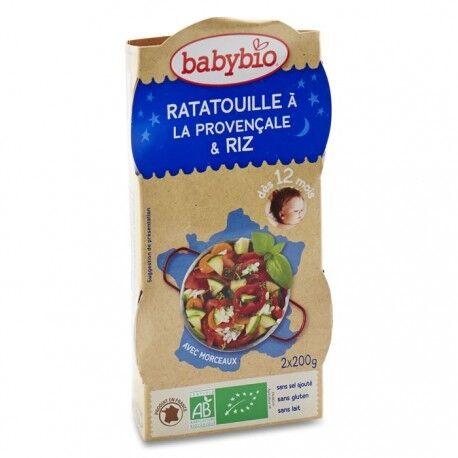 BABYBIO Ratatouille à la Provençale, riz - 2x200gr - Babybio