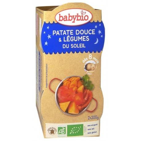 BABYBIO Patate Douce et Légumes du Soleil - 2x200gr - Babybio