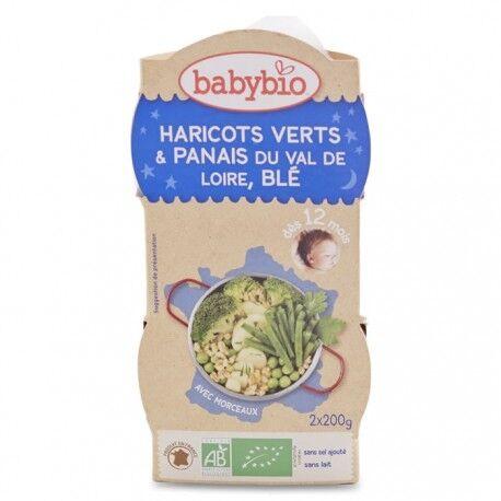 BABYBIO Haricot Verts de Vendée, Panais et Blé - 2x200gr - Babybio
