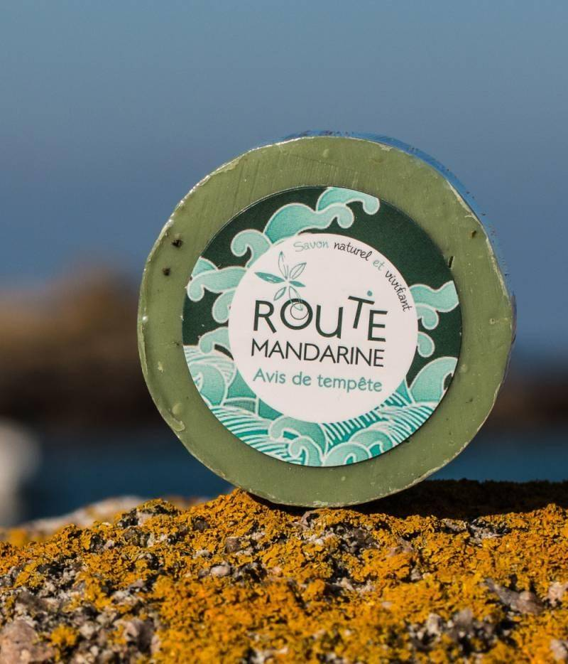 Le Comptoir Des Algues Savon à l'huile de ricin et argile verte - Avis de tempête