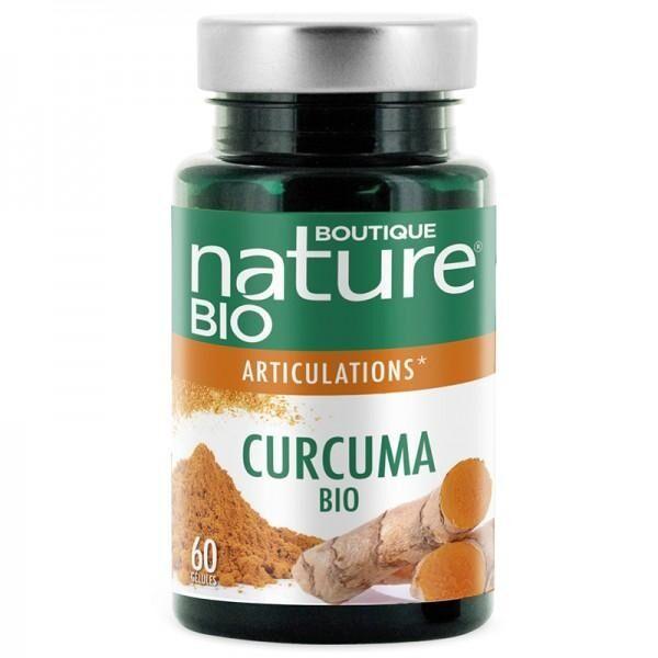 BOUTIQUE NATURE Curcuma Poivre noir BIO - 60 gélules - Boutique Nature