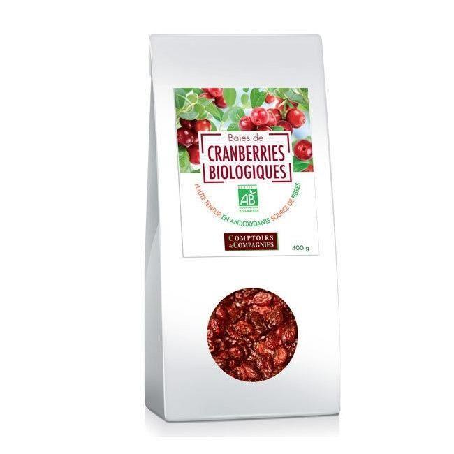COMPTOIRS ET COMPAGNIES - Baies de cranberries bio séchées -...