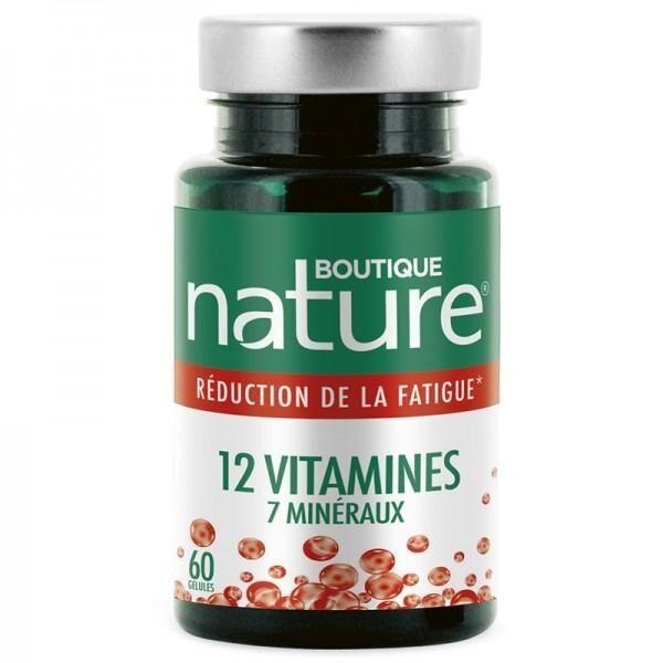 BOUTIQUE NATURE 12 Vitamines et 7 minéraux - Tonus - 60 gélules - Boutique Nature
