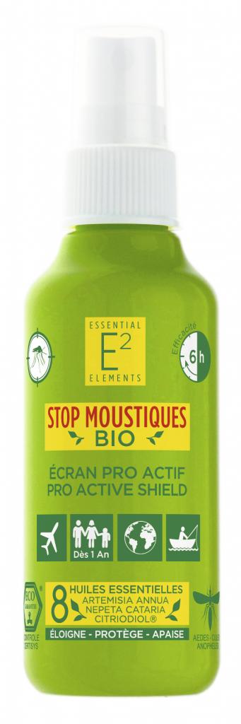 E2 Essential Elements BIO Spray Anti Moustiques aux 8 Huiles Essentielles 100% BIO...