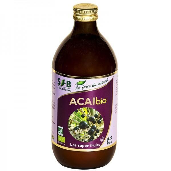 LABORATOIRES SFB Pur Jus d'Acaï Bio - 500 ml - Laboratoires SFB