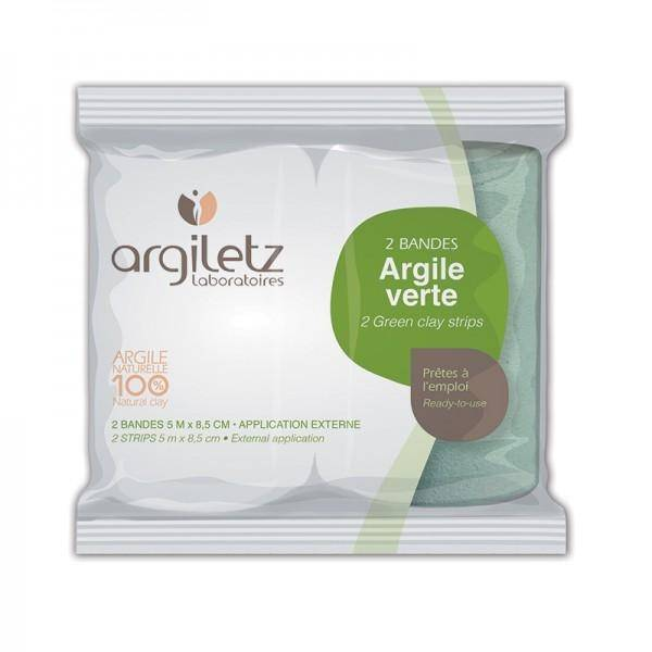 ARGILETZ 2 bandes d'Argile verte prête à l'emploi - Argiletz