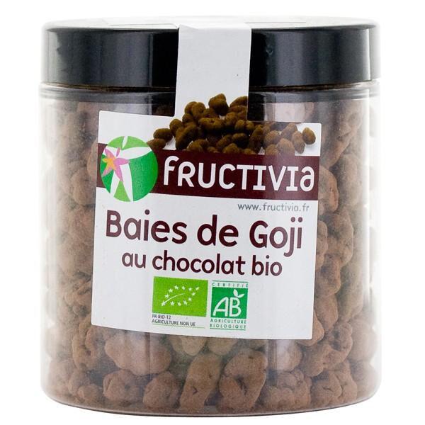 FRUCTIVIA Baies de Goji Bio séchées au chocolat - 150 g- Fructivia