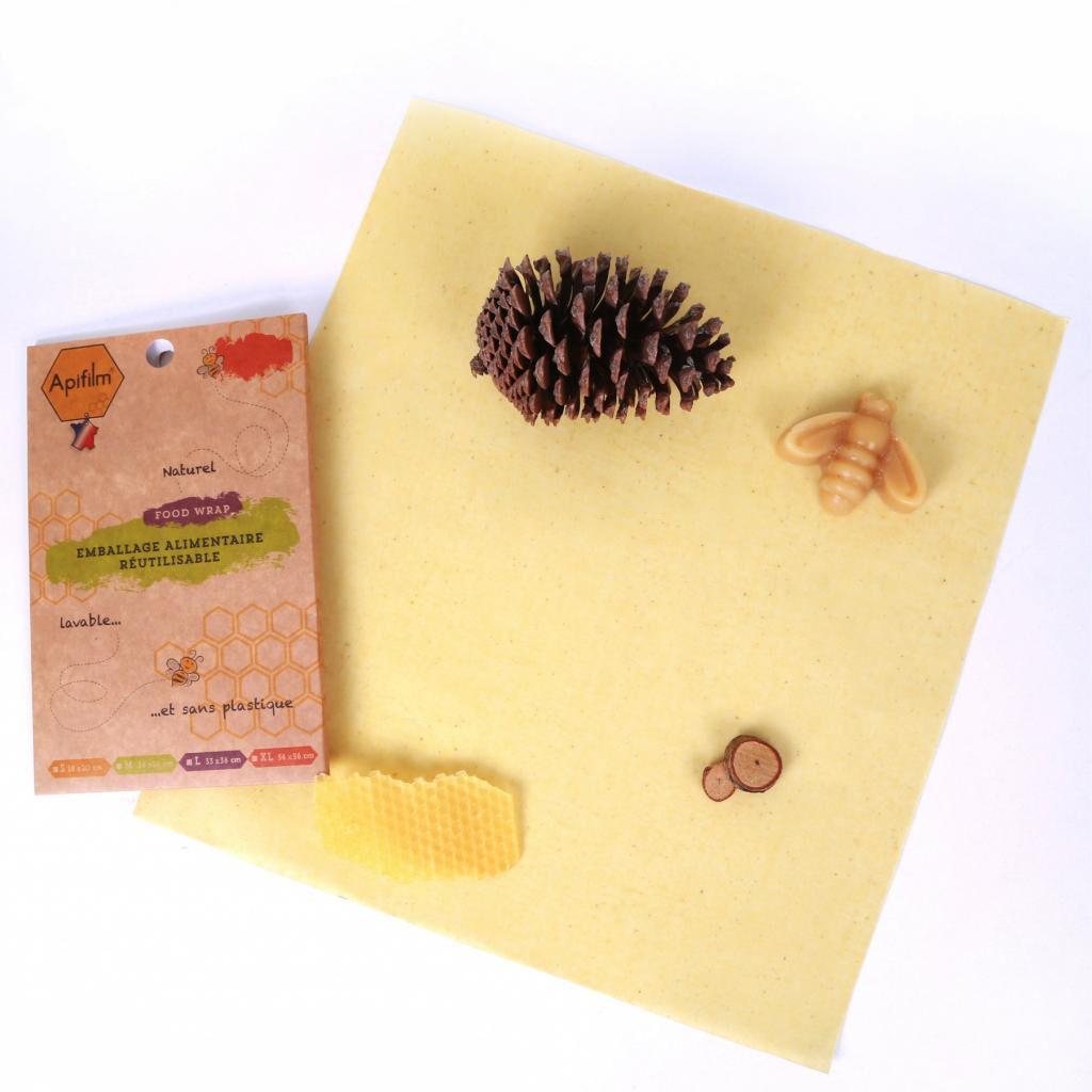 Fee Natura Beewrap en coton GOTS à la cire d'abeille - taille L - Apifilm