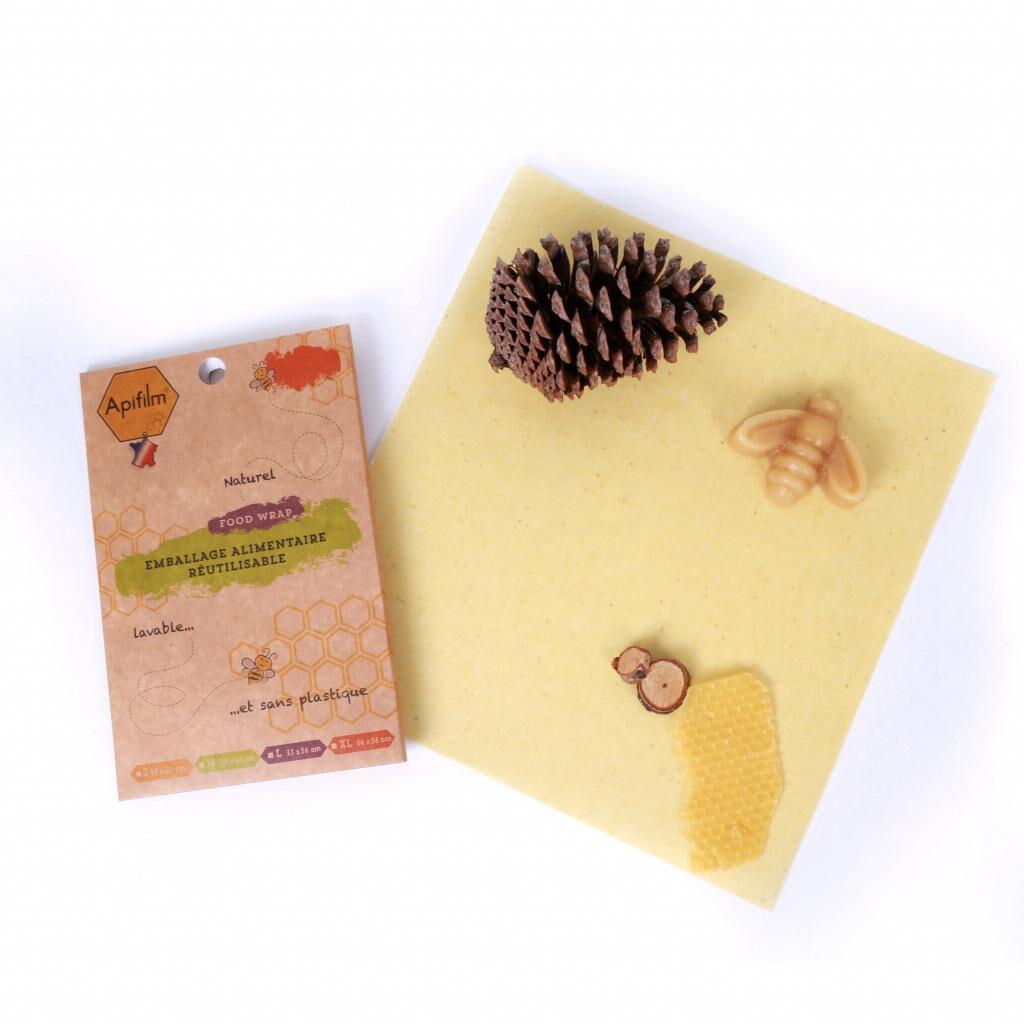 Fee Natura Beewrap en coton GOTS à la cire d'abeille - Taille M - Apifilm