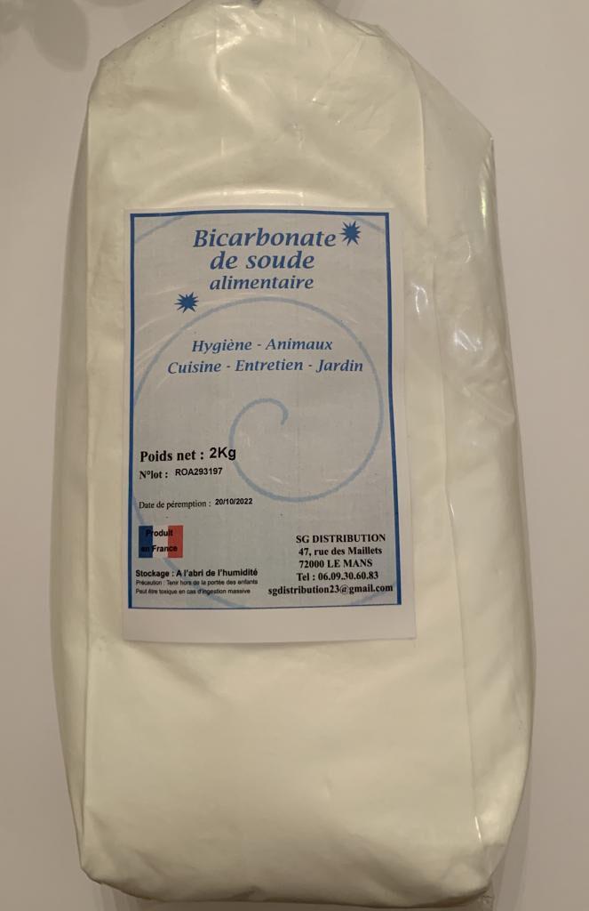 Sg Distribution Bicarbonate de soude alimentaire 2 kg