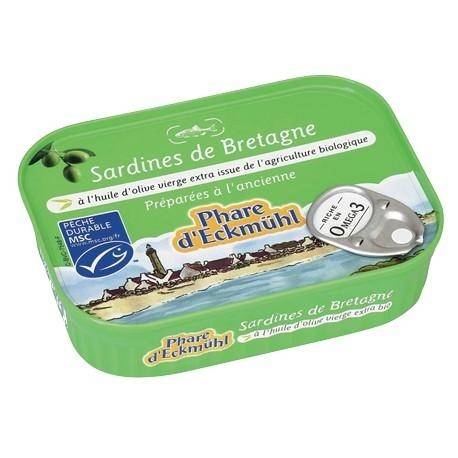 PHARE D'ECKMÜHL Sardines à l'huile d'olive vierge extra bio - 135g - Phare d'Eckmühl