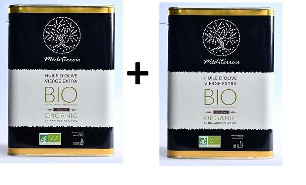 Comptoir D'ailleurs Huile d'Olive Bio MEDITERROIR 2*3 Litres