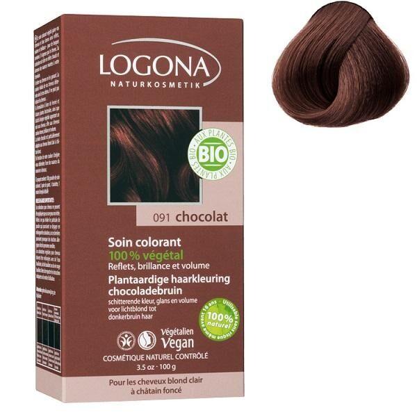 LOGONA Soin colorant Bio 100 % végétal  - Chocolat - 100 gr - Logona