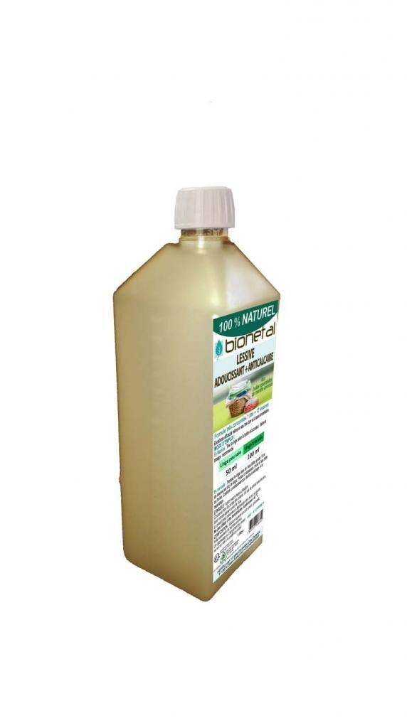 Bionetal - Nettoyants 100% D'origine Naturelle Lessive végétale avec adoucissant et anticalcaire - 1 Litre