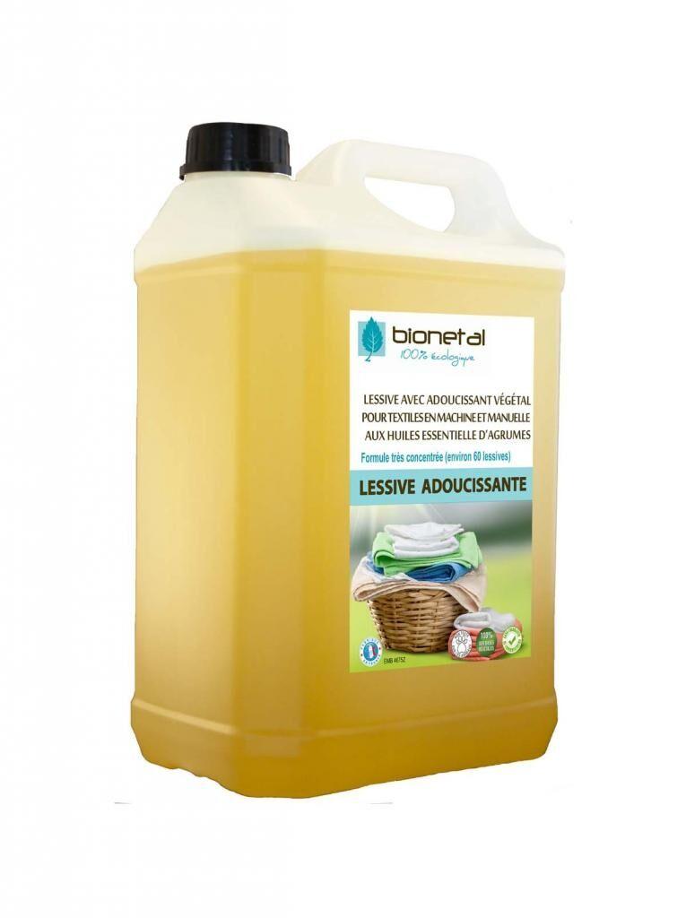 Bionetal - Nettoyants 100% D'origine Naturelle Lessive végétale avec adoucissant et anticalcaire - 5L