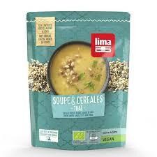 Les Délices De Sarah Soupe et céréales thaï 50cl LIMA