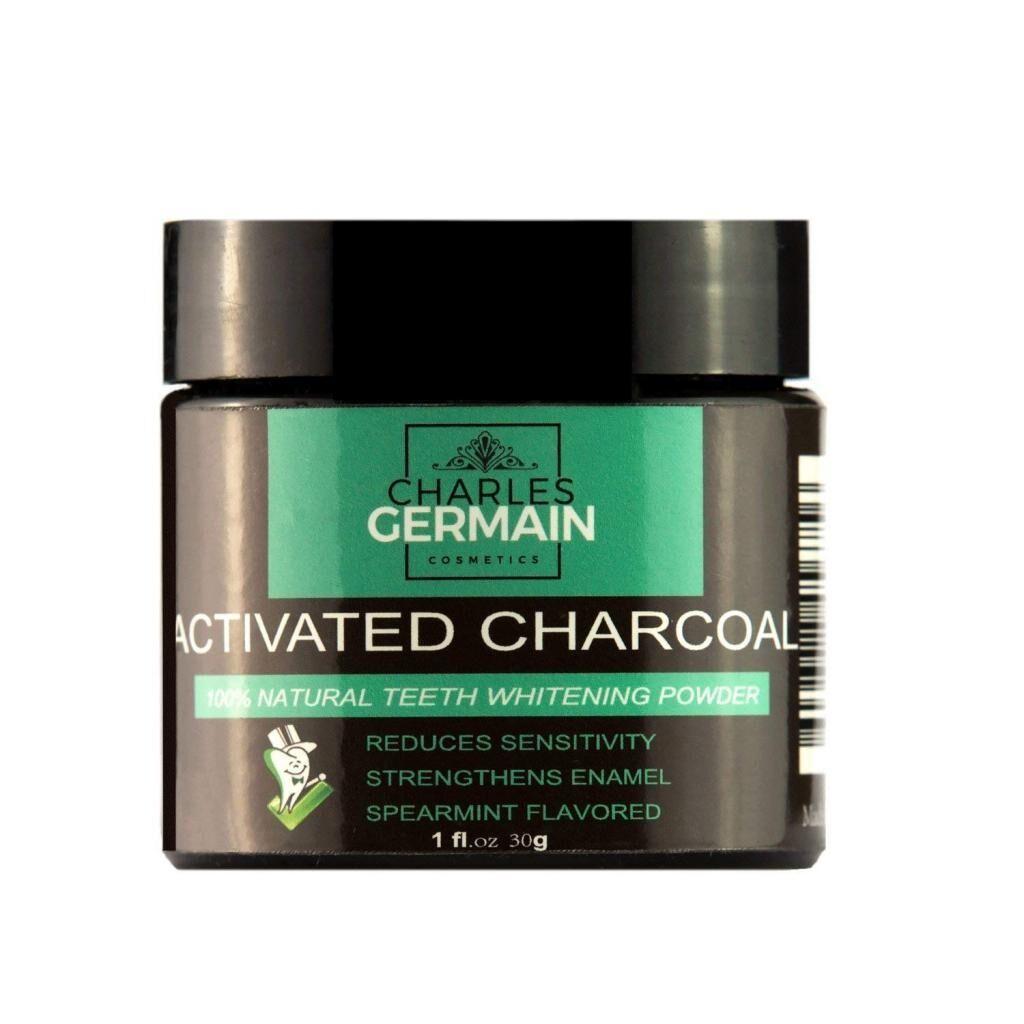 Charles Germain Cosmetics Poudre de blanchiment des dents au charbon actif