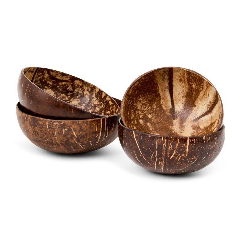 Panda 4 bols en noix de coco