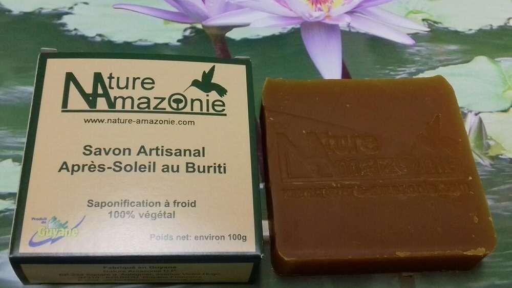 Nature Amazonie Distribution Production Savon artisanal Buriti, hydratant après soleil.