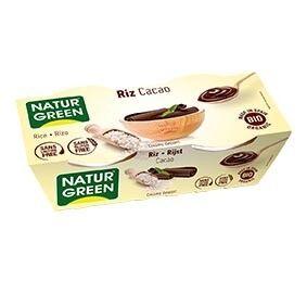 NATURGREEN Dessert Riz Chocolat 2x125g Bio - NaturGreen