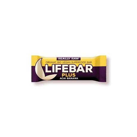 LIFEFOOD Lifebar+ Acaï - Banane - 47g - Lifefood