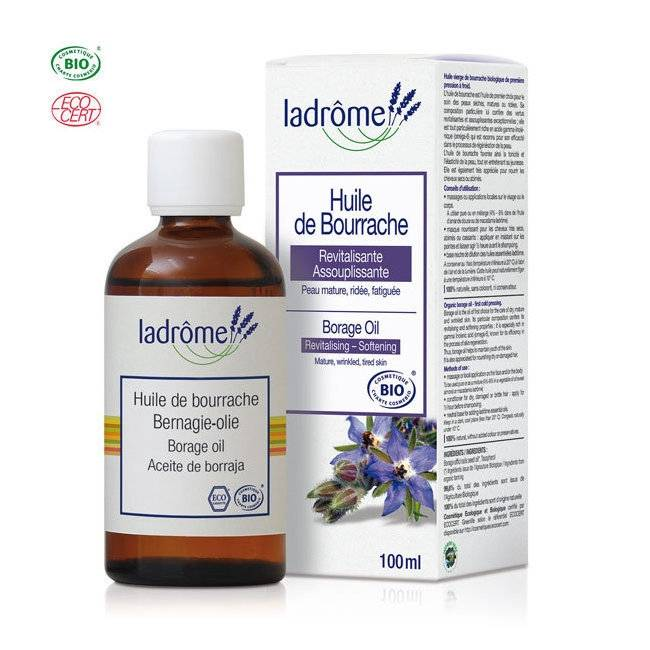 ECOCERT LADRÔME - Huile de Bourrache bio - Cheveux secs et peaux matures...