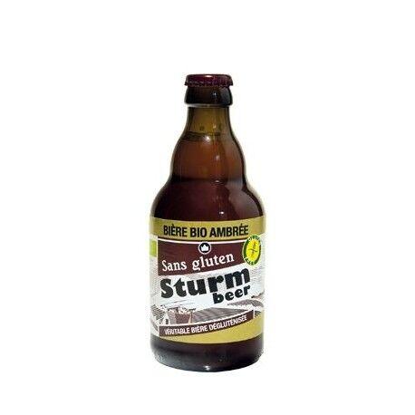 STURMFRANCE Sturm Bière Bio Ambrée sans Gluten - 33cl - Sturmfrance