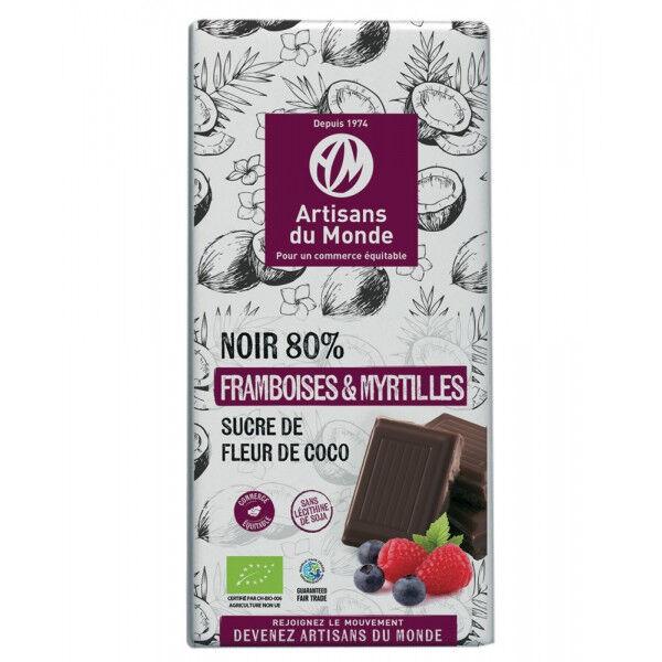 ARTISANS DU MONDE Chocolat Noir Bio Fruits rouges - 100g