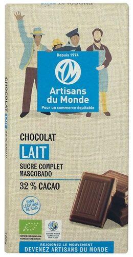 Artisans Du Monde Chocolat au lait équitable et bio - 100gr