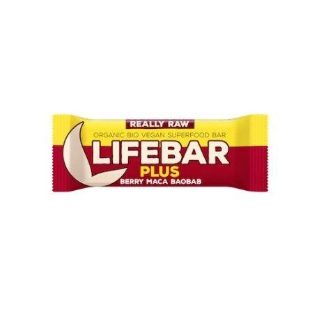 LIFEFOOD Lifebar Plus Maca et Baobab - 47g - Lifefood