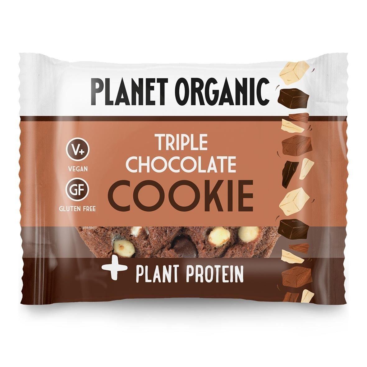 Lechoppebio Cookie Protéiné 3 Chocolats Bio 50g - Planet Organic