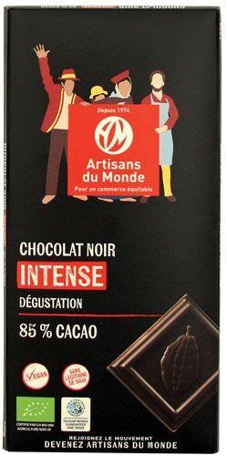 Artisans Du Monde Chocolat noir intense bio, 85% de cacao -100g