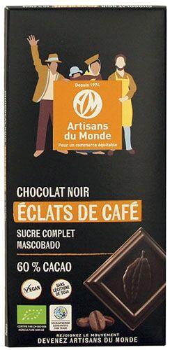 Artisans Du Monde Chocolat noir bio aux éclats de café - 100g