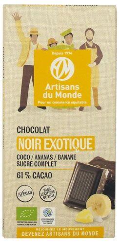 Artisans Du Monde Chocolat noir équitable et bio exotique - 100gr