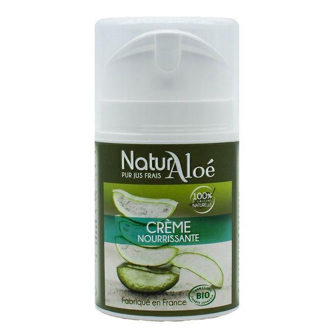 ECOCERT NATURALOE - Crème nourrissante bio à l'Aloe vera 50ml - Peaux...