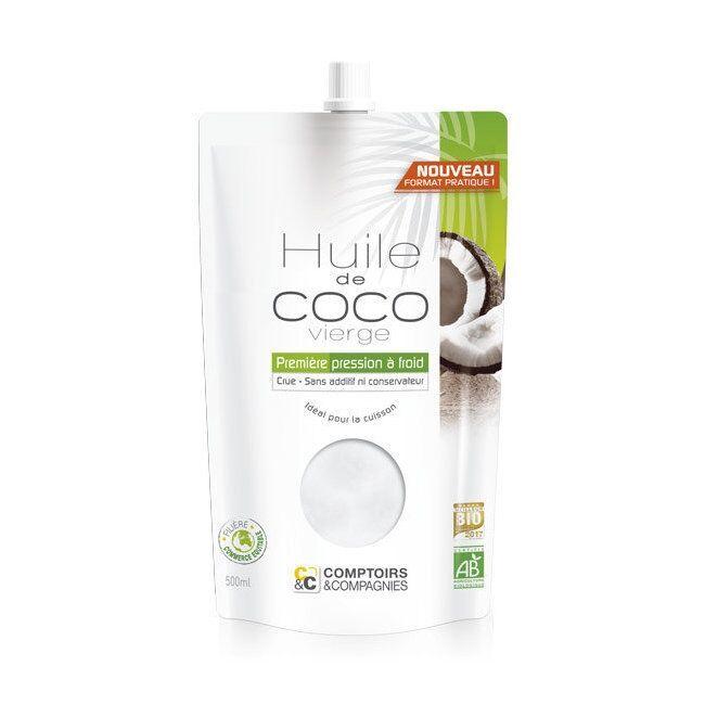 COMPTOIRS ET COMPAGNIES - Huile de coco bio alimentaire - Doypack...