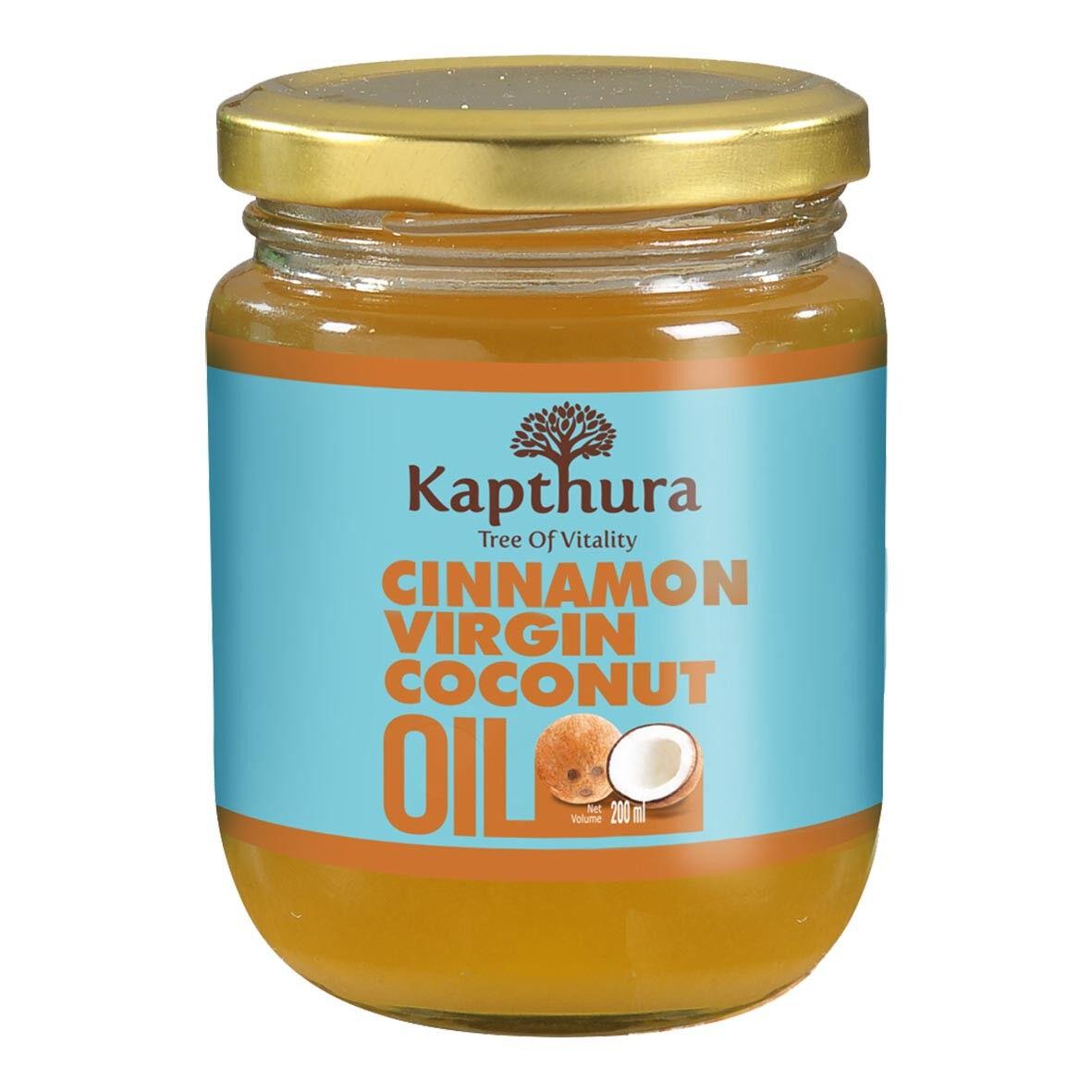 Lechoppebio Huile de Coco infusée à la Cannelle Bio 200 ml - Kapthura