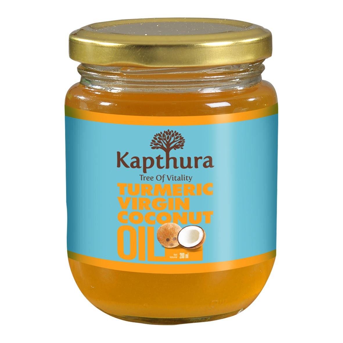 Lechoppebio Huile de Coco infusée au Curcuma Bio 200 ml - Kapthura