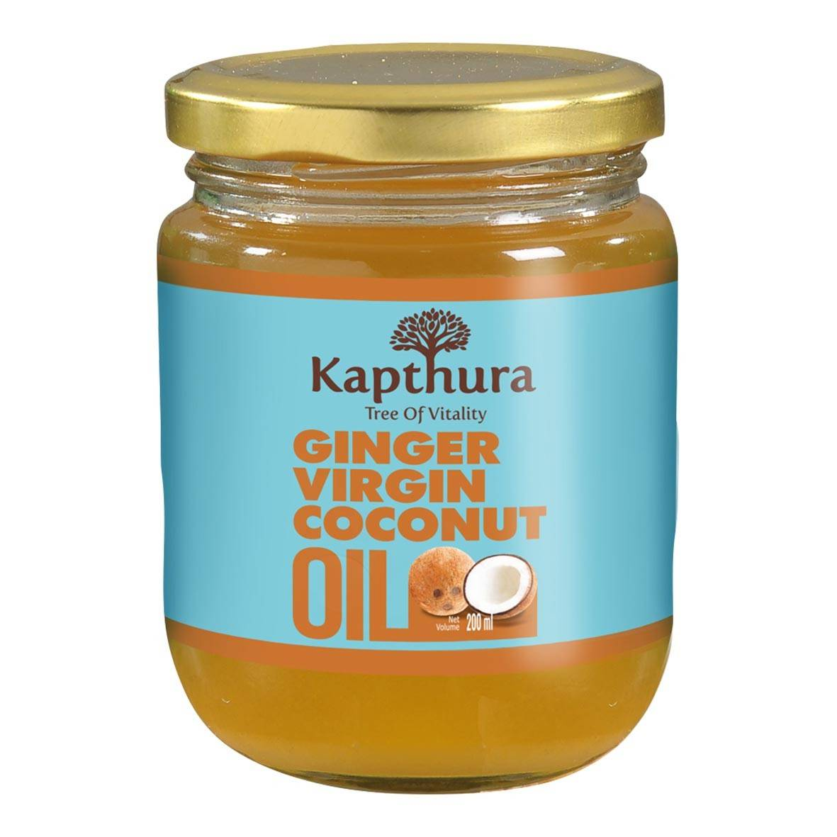 Lechoppebio Huile de Coco infusée au Gingembre Bio 200 ml - Kapthura