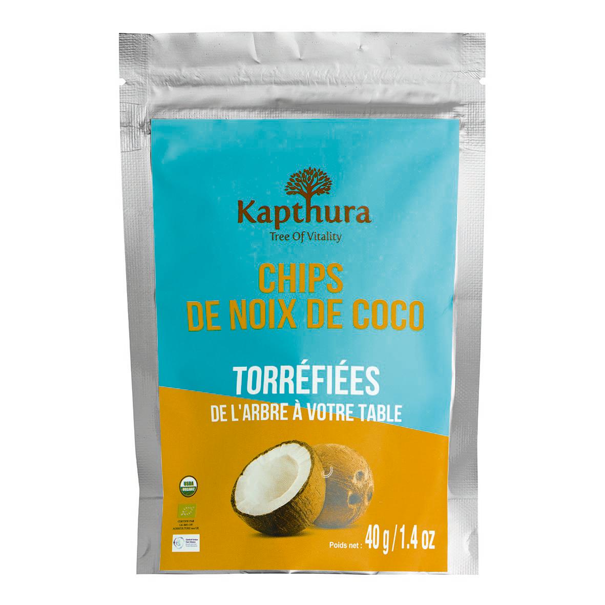 Lechoppebio Chips de Noix de Coco torréfiés 500g Bio - Kapthura