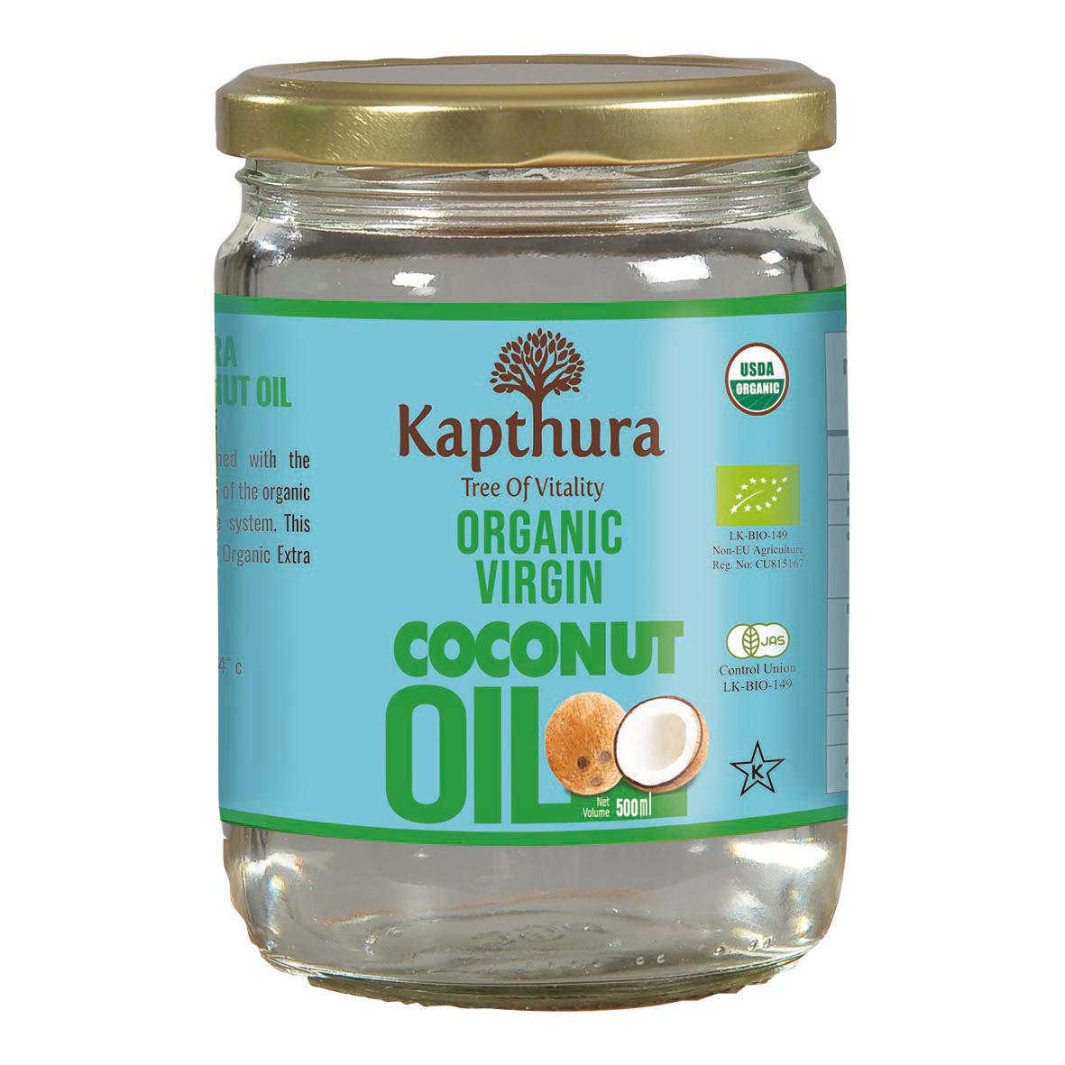 Lechoppebio Huile de Coco Vierge Bio 500 ml - Kapthura