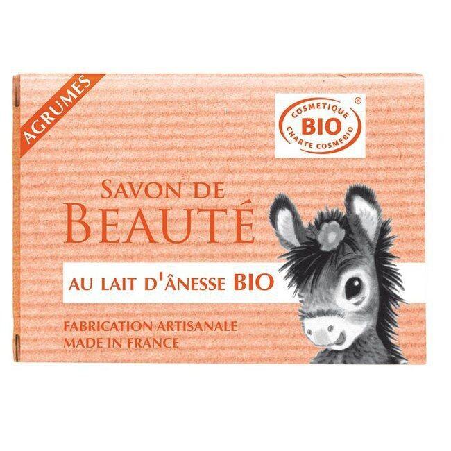 COSMO NATUREL - Savon au lait d'anesse bio Agrumes 100g