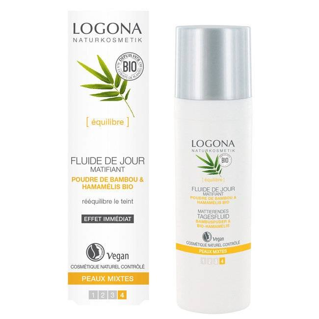 LOGONA - Fluide de jour matifiant Bambou bio - Peaux mixtes 30ml