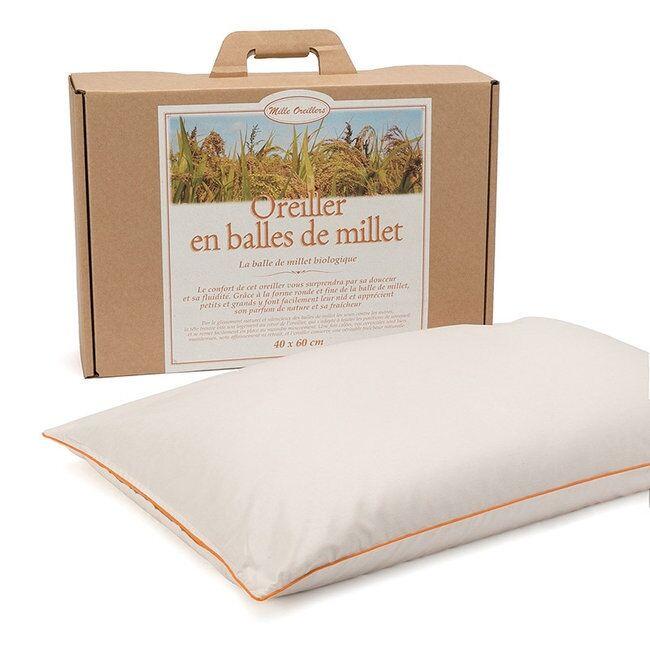 MILLE OREILLERS – Oreiller en balles de millet Bio - 40 x 60 cm